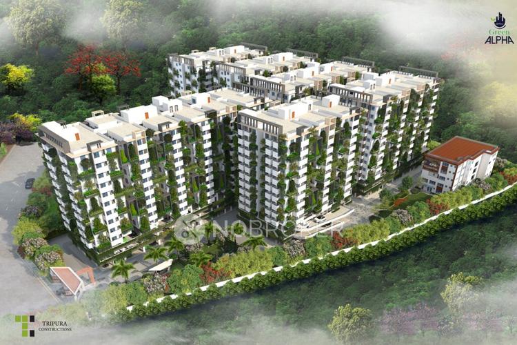 2 bhk flat for sale in tripura green alpha in tellapur